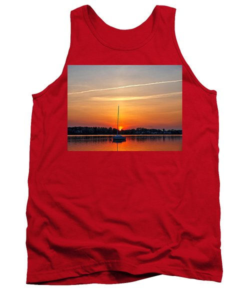 Summer Sunset At Anchor Tank Top
