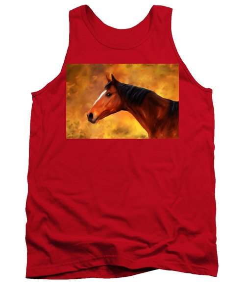Summers End Quarter Horse Painting Tank Top