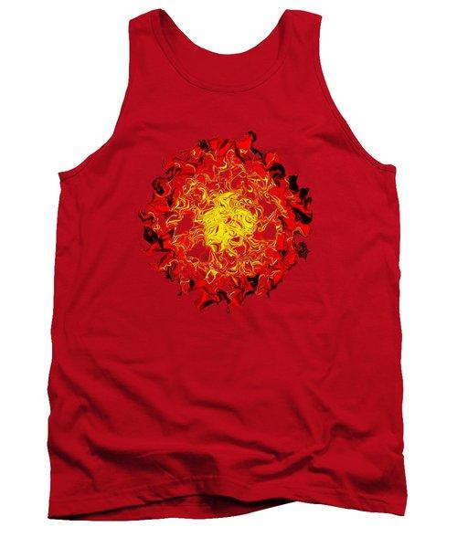 Sun Abstract Art By Kaye Menner Tank Top by Kaye Menner