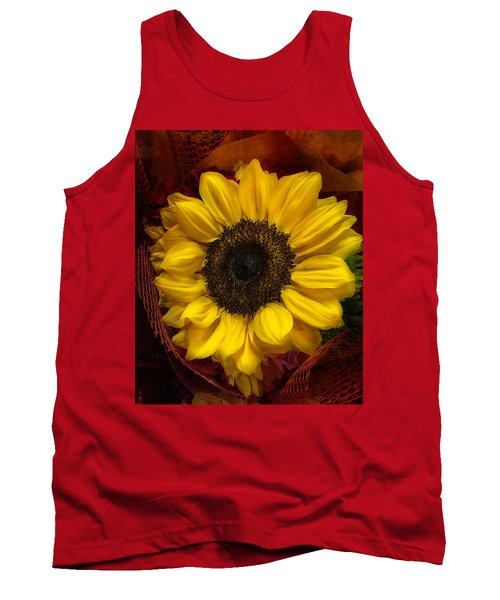 Sun In The Flower Tank Top by Arlene Carmel
