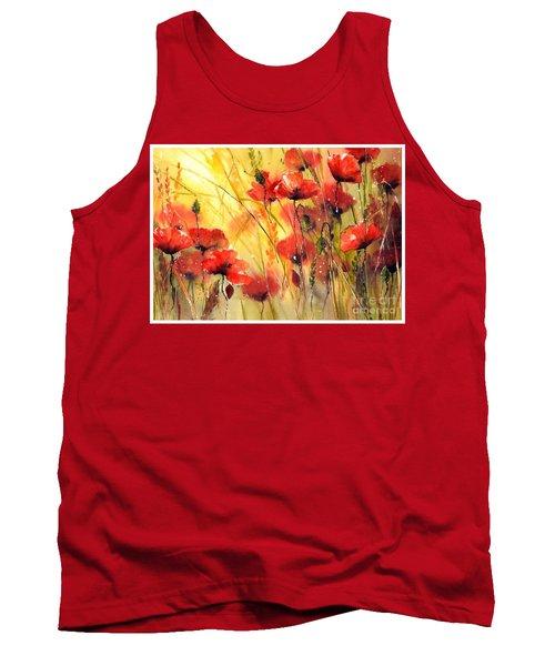 Sun Kissed Poppies Tank Top