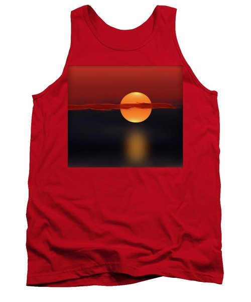 Sun On Red And Blue Tank Top by Deborah Smith