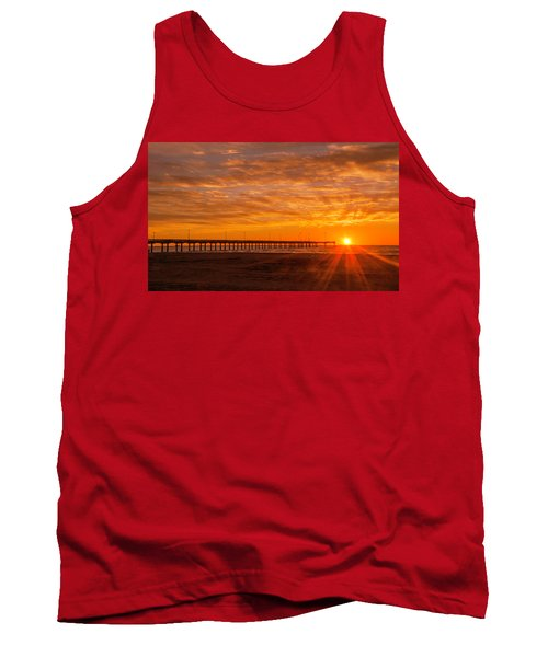 Sun Rising At Port Aransas Pier Tank Top