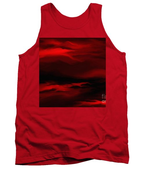 Sun Sets In Red Tank Top