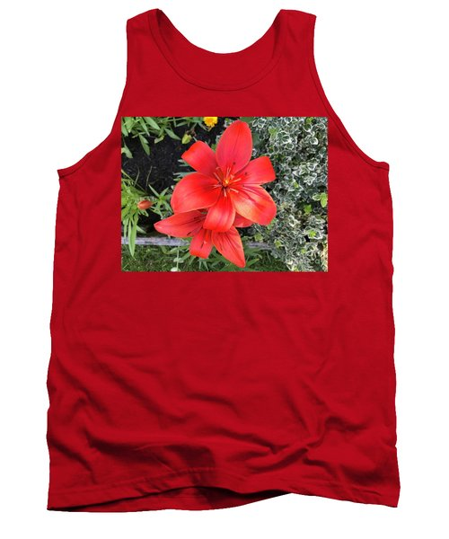 Sunbeam On Red Day Lily Tank Top