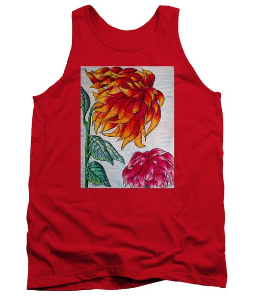 Sunburst And Peppermint Tank Top by Megan Walsh