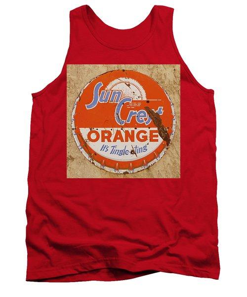 Suncrest Orange Soda Cap Sign Tank Top