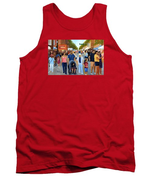 Sunday Fun In Red Bank Tank Top