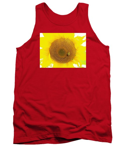 Sunflower And The Happy Bee Tank Top
