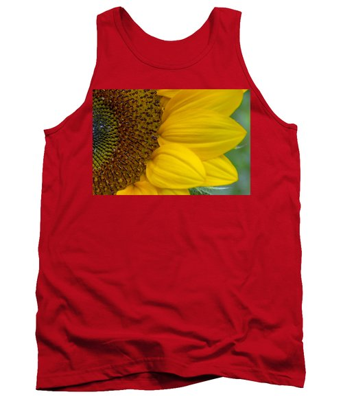 Sunflower Closeup Tank Top