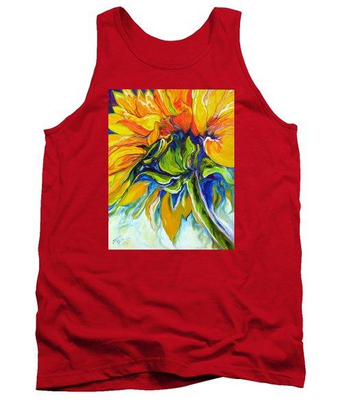 Sunflower Day Tank Top by Marcia Baldwin