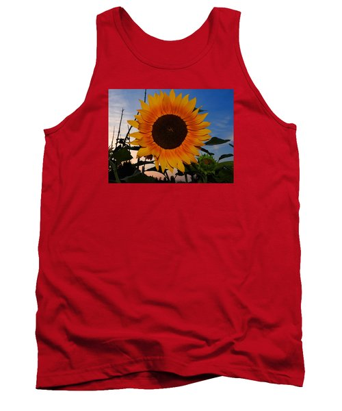 Sunflower In The Evening Tank Top by Ernst Dittmar