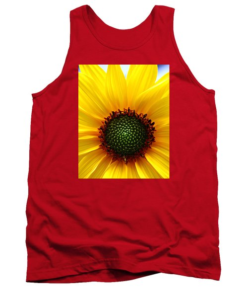 Sunflower Macro Tank Top