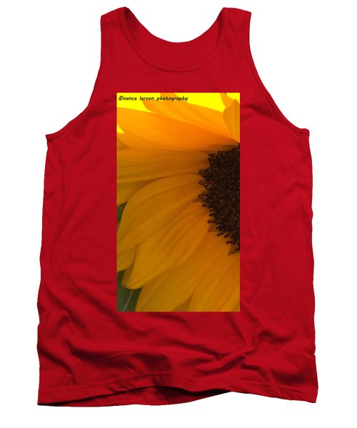 Sunflower Macro Tank Top