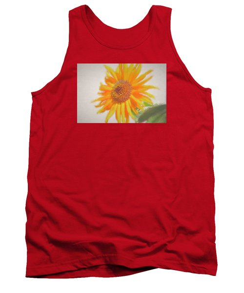 Tank Top featuring the painting Sunflower Painting by Debra     Vatalaro
