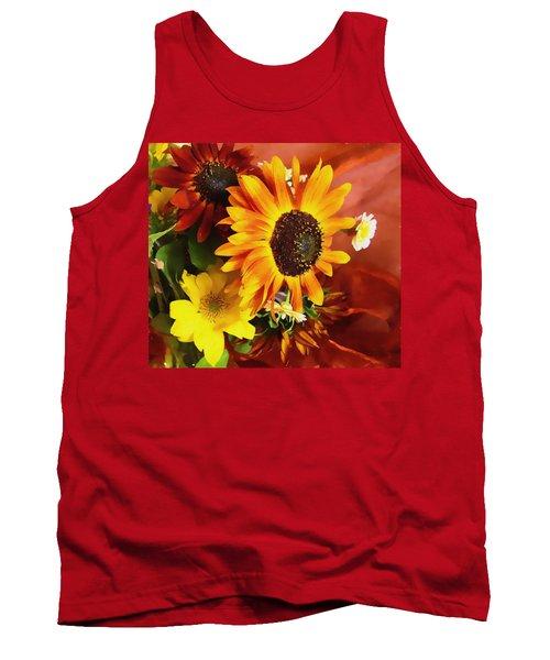 Sunflower Strong Tank Top by Kathy Bassett