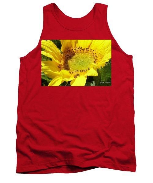Sunflower With Honeybee Tank Top