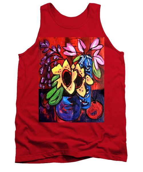 Sunflowers And Tulips Tank Top