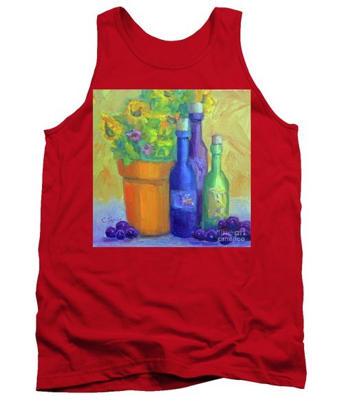Sunflowers And Wine Tank Top