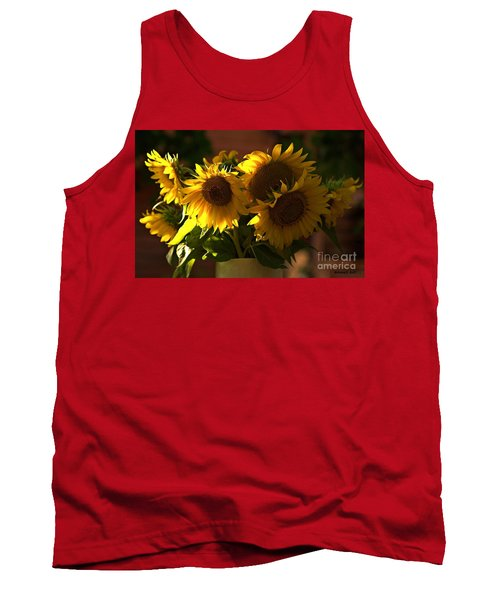 Sunflowers In A Vase Tank Top