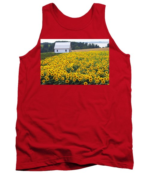 sunflowers in PEI Tank Top