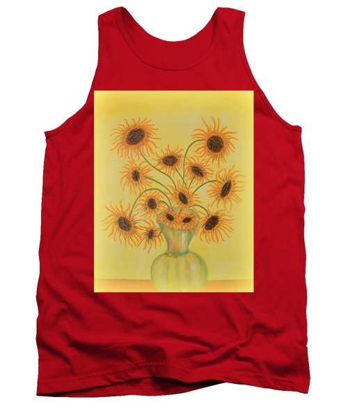 Sunflowers Tank Top by Marie Schwarzer