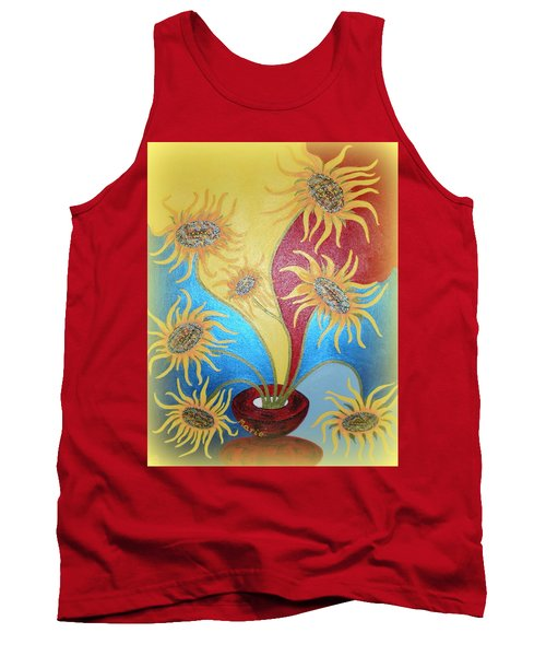 Sunflowers Symphony Tank Top by Marie Schwarzer