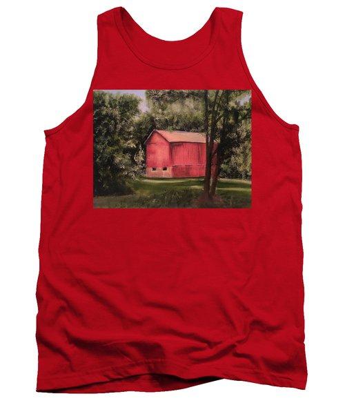 Sunlit Barn Tank Top by Sharon Schultz