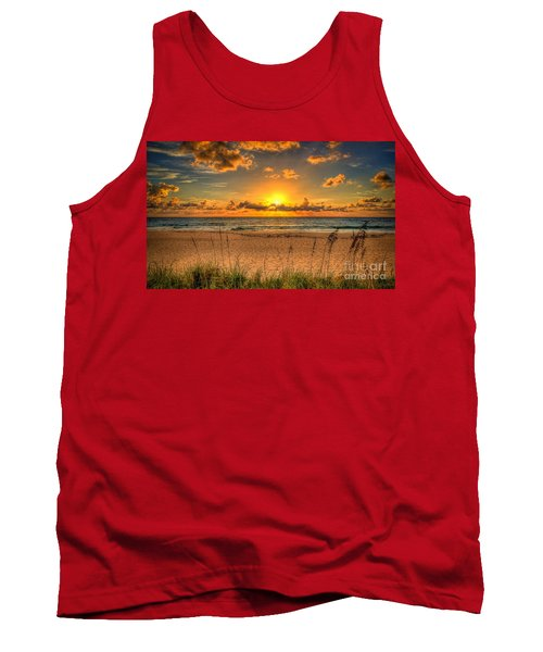 Sunny Beach To Warm Your Heart Tank Top by Rod Jellison