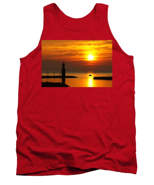 Sunrise Brushstrokes Tank Top by Bill Pevlor