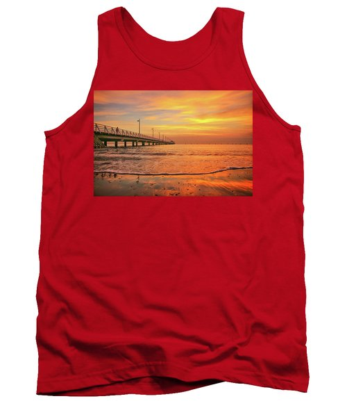 Sunrise Delight On The Beach At Shorncliffe Tank Top