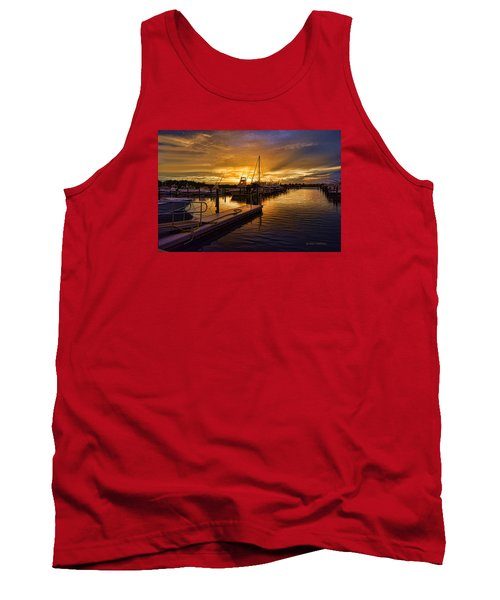 Sunrise Marina Tank Top by Don Durfee