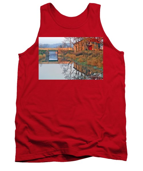 Sunrise On The I And  M Canal Tank Top by Paula Guttilla
