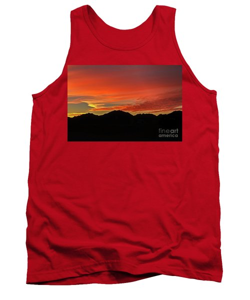 Tank Top featuring the photograph Sunrise Over Gila Mountains by Robert Bales