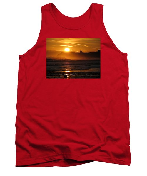 Tank Top featuring the photograph Sunrise Over Sandsend Beach by RKAB Works