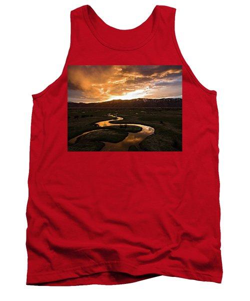 Sunrise Over Winding River Tank Top