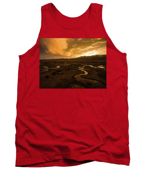 Sunrise Over Winding Rivers Tank Top