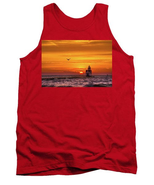 Tank Top featuring the photograph Sunrise Solo by Bill Pevlor