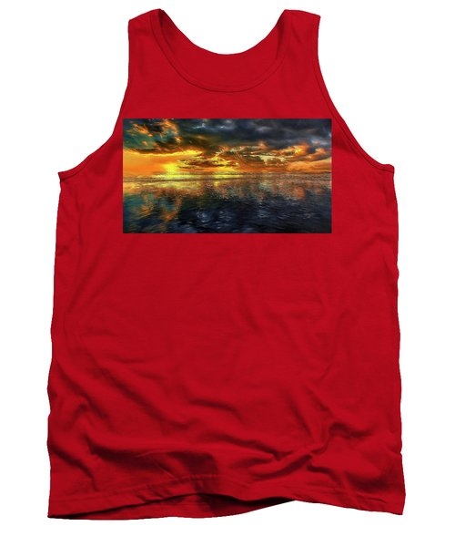 Sunset #95 Or Sunset Over The Atlantic. Tank Top