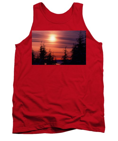 Sunset And Trees Two  Tank Top by Lyle Crump