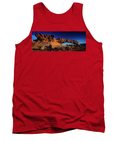 Tank Top featuring the photograph Sunset Arch Pano by Edgars Erglis