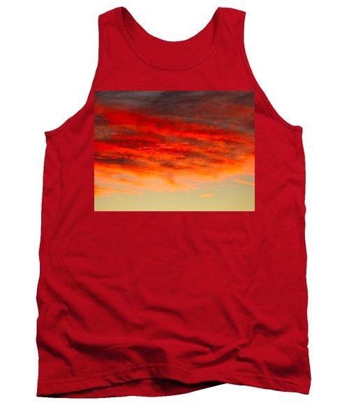 Sunset At Eaton Rapids 4826 Tank Top