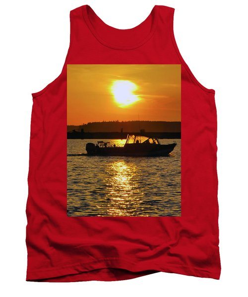 Sunset Boat Tank Top