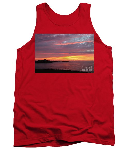Tank Top featuring the photograph Sunset Clouds In Newquay Cornwall by Nicholas Burningham