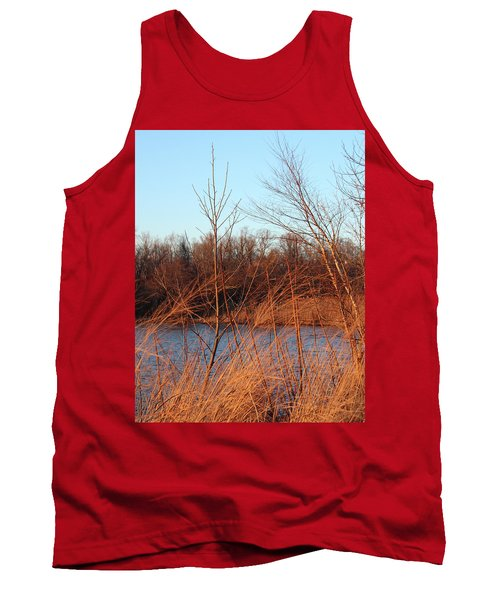 Sunset Field Over Water Tank Top