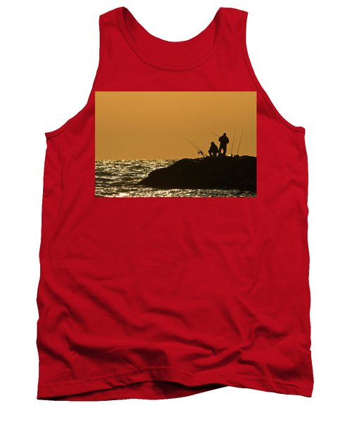 Sunset Fishermen Tank Top