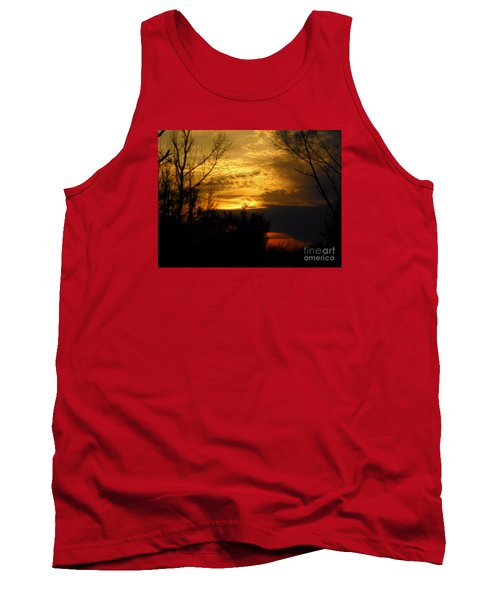 Sunset From Farm Tank Top by Craig Walters