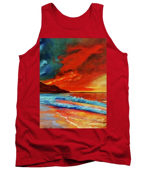 Sunset Hawaii Tank Top by Jenny Lee
