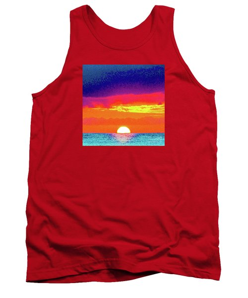 Sunset In Abstract 500 Tank Top