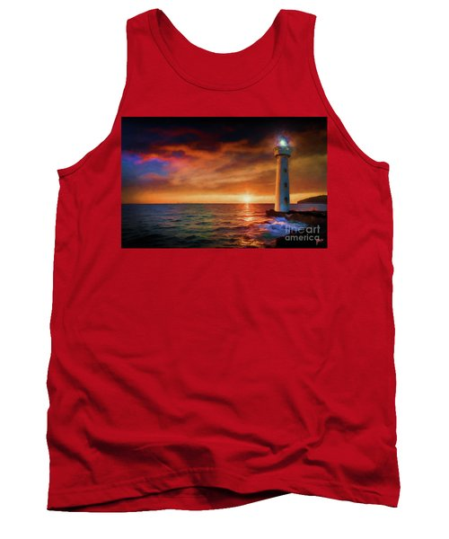 Sunset In The Bay Tank Top
